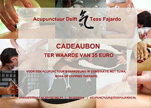 Cadeaubon voor en acupunctuur behandeling